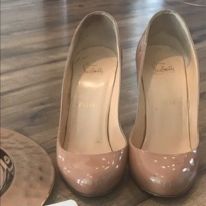 Christian Louboutin 38.5 nude 85mm Merci Allen